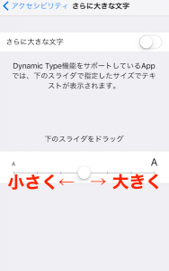iPhone 文字を大きくする方法