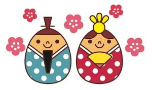 桃の節句「ひな祭り」の無料図案