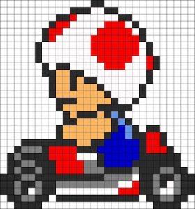 マリオシリーズキャラクターの無料図案