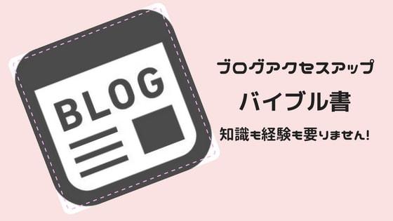 初心者にもできる簡単な「ブログアクセスアップ」おすすめバイブル書