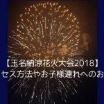 【玉名納涼花火大会2018】日程・アクセス方法やお子様連れへのおすすめ情報