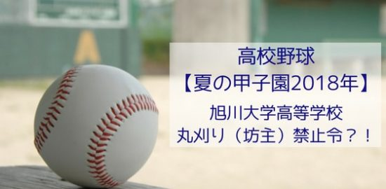 高校野球【夏の甲子園2018年】丸刈り(坊主)禁止令発令の旭川大学高等学校