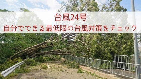 台風24号本州付近を一気に駆け抜ける予想も?!〜自分でできる最低限の台風対策をチェック