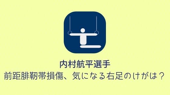 【内村航平選手】前距腓靭帯損傷、気になる右足のけがは?